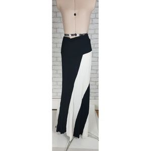 Always Black White Color Block Striped Maxi Dress